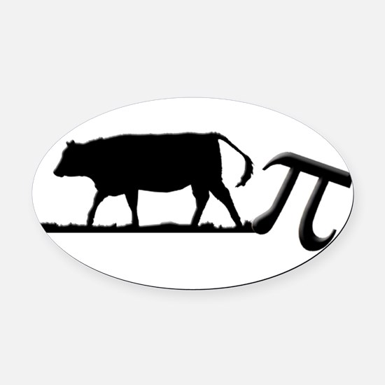 Cow Pie Oval Car Magnet