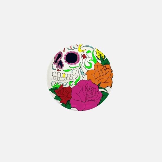 Candy Skull Illustration Mini Button