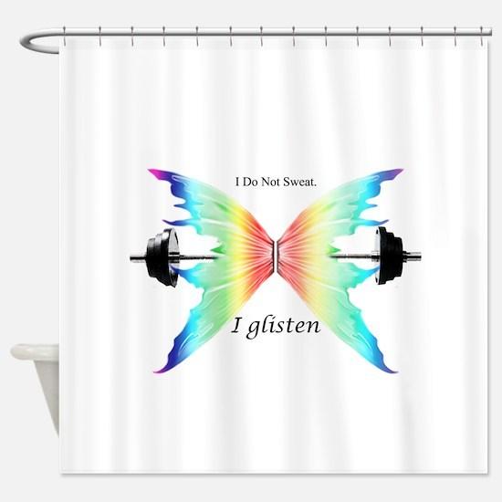 Don't Sweat Glisten Shower Curtain