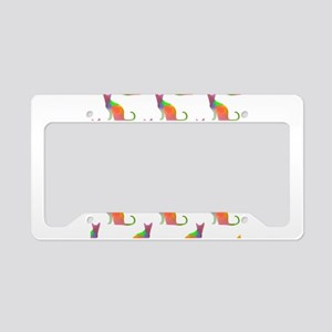 Watercolor Cat Silhouette Pat License Plate Holder