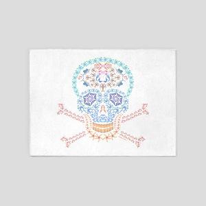 Marine Candy Skull 5'x7'Area Rug