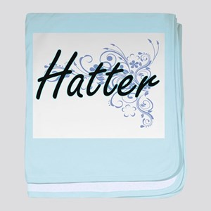 Hatter Artistic Job Design with Flowe baby blanket
