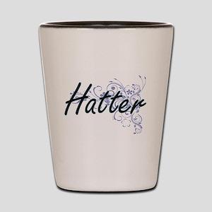 Hatter Artistic Job Design with Flowers Shot Glass