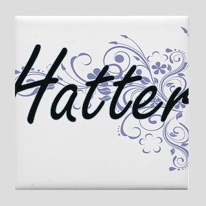 Hatter Artistic Job Design with Flowe Tile Coaster