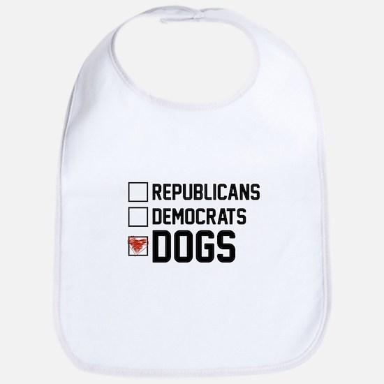 I Vote Dogs Baby Bib