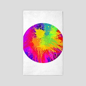 Colourful paint splatter Area Rug