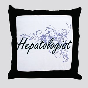 Hepatologist Artistic Job Design with Throw Pillow