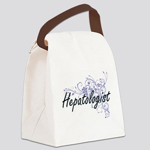 Hepatologist Artistic Job Design Canvas Lunch Bag