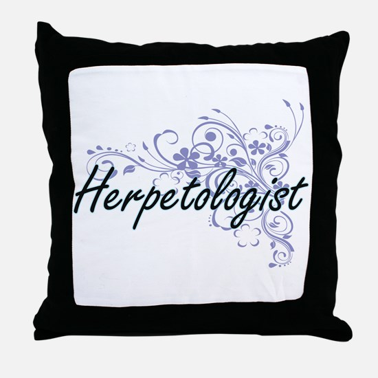 Herpetologist Artistic Job Design wit Throw Pillow