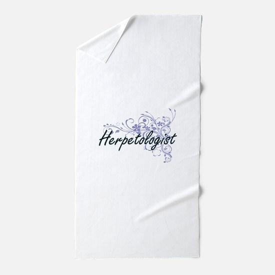 Herpetologist Artistic Job Design with Beach Towel