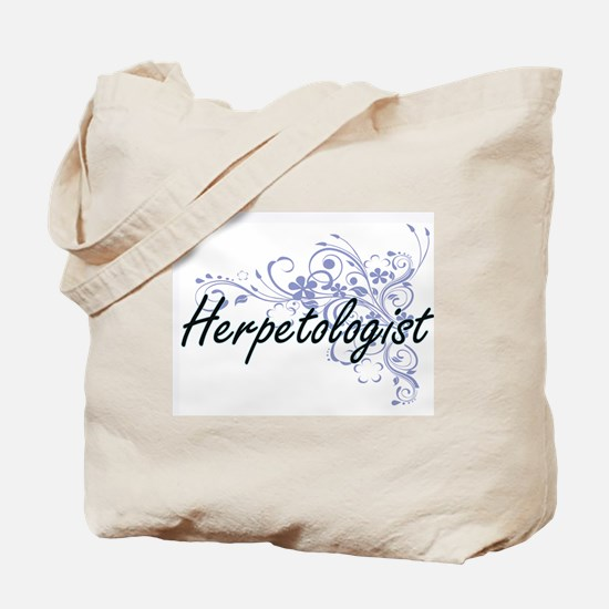 Herpetologist Artistic Job Design with Fl Tote Bag