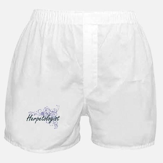 Herpetologist Artistic Job Design wit Boxer Shorts