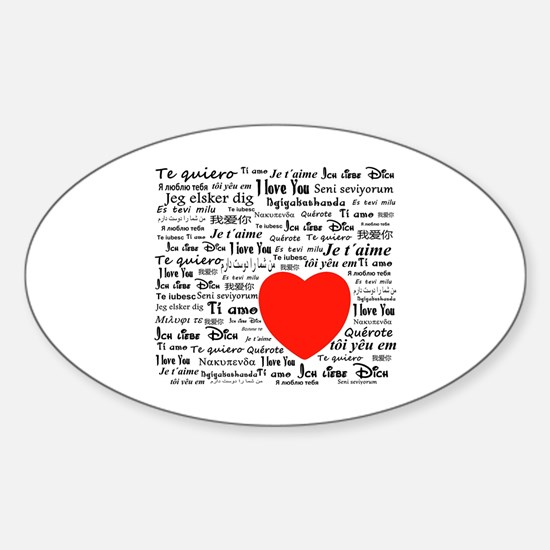 Unique Te amo Sticker (Oval)