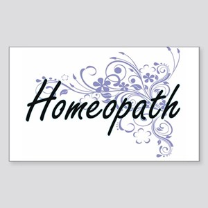 Homeopath Artistic Job Design with Flowers Sticker