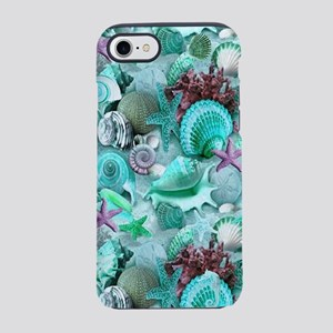 Green Seashells And starfish iPhone 8/7 Tough Case