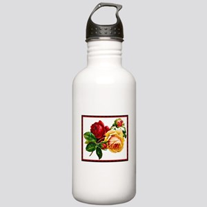 Vintage Roses Red & Ye Stainless Water Bottle 1.0L