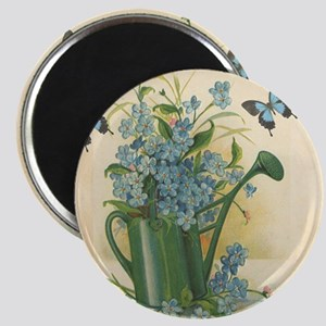 Vintage Water Can and Butterflies Magnet