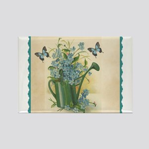 Vintage Water Can and Butterflies Rectangle Magnet