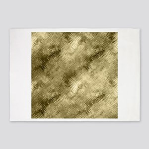 Bronze Crystal Pattern 5'x7'Area Rug
