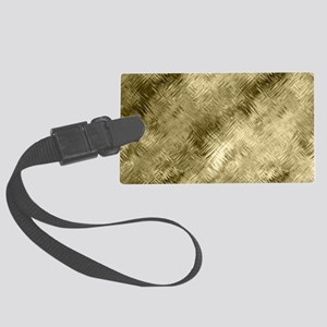 Bronze Crystal Pattern Large Luggage Tag