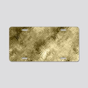 Bronze Crystal Pattern Aluminum License Plate