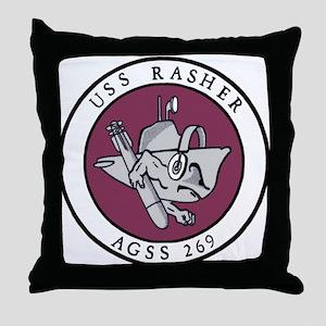 USS Rasher (AGSS 249) Throw Pillow