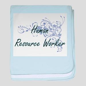 Human Resource Worker Artistic Job De baby blanket