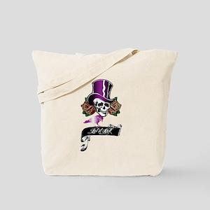 Let It Roll Top Hat Skull Tote Bag