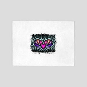 Electric Heart Pop Art 5'x7'Area Rug