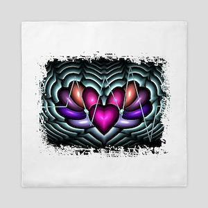 Electric Heart Pop Art Queen Duvet