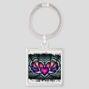 Electric Heart Pop Art Keychains