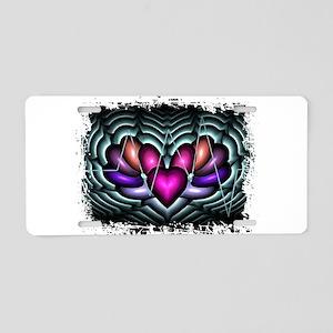 Electric Heart Pop Art Aluminum License Plate