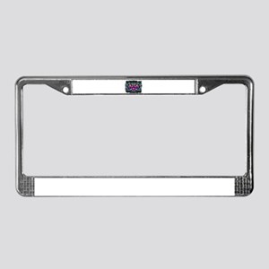 Electric Heart Pop Art License Plate Frame