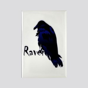 Raven on Raven Rectangle Magnet