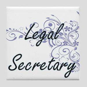 Legal Secretary Artistic Job Design w Tile Coaster