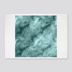 Teal Glassy Crystal Gel Pattern 5'x7'Area Rug