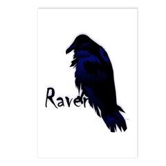 Raven on Raven Postcards (Package of 8)