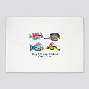 May All Your Fishes Come True 5'x7'Area Rug