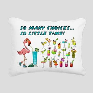 Flamingo Happy Hour Rectangular Canvas Pillow