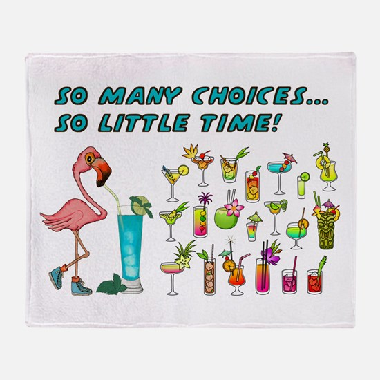 Flamingo Happy Hour Throw Blanket
