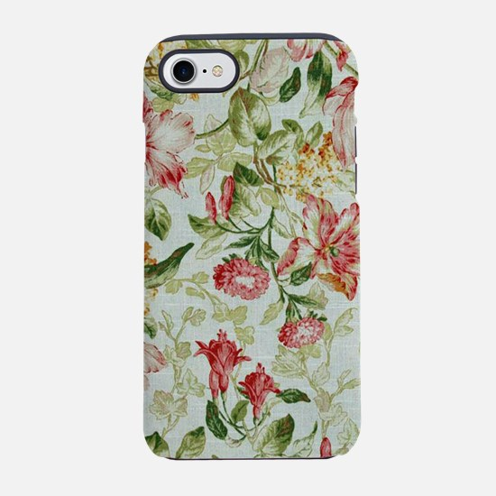 Burgundy Jasmine iPhone 8/7 Tough Case