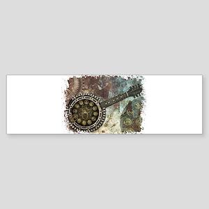 Steampunk Banjo Bumper Sticker
