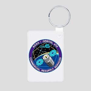 NASA OA-6 Aluminum Photo Keychain