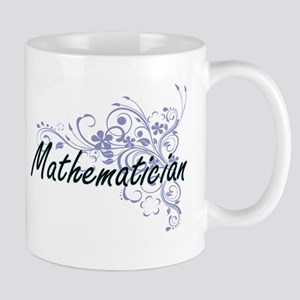 Mathematician Artistic Job Design with Flower Mugs