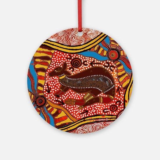 Unique Kangaroo Round Ornament