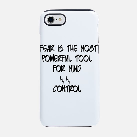 fear for mind control iPhone 8/7 Tough Case