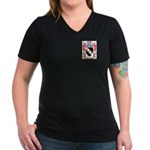 O'Glissane Women's V-Neck Dark T-Shirt