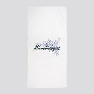 Microbiologist Artistic Job Design wit Beach Towel