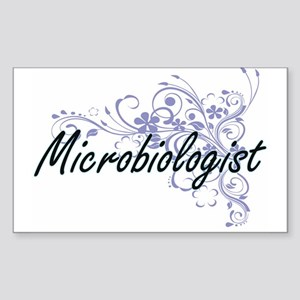 Microbiologist Artistic Job Design with Fl Sticker