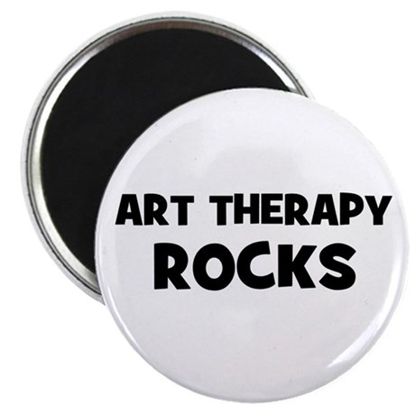"""Art Therapy Rocks 2.25"""" Magnet (10 pack)"""